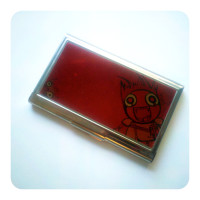 Here, Kitty Kitty Business Card Holder