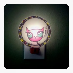 Pink Astrokitty Nightlite