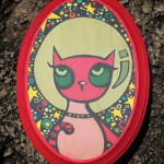 Pink Astrokitty on Wood